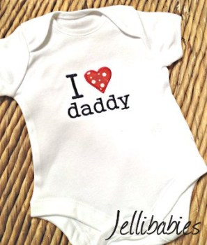 I love my daddy baby onesie vest