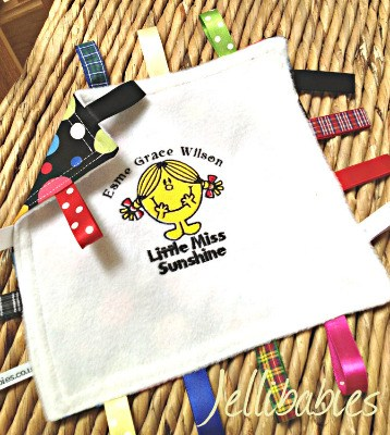 Little miss sunshine Taggy Taggie blanket