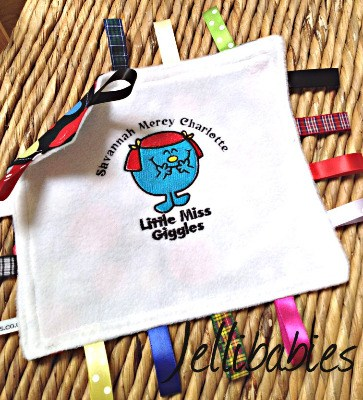 Little miss giggles Taggy Taggie blanket
