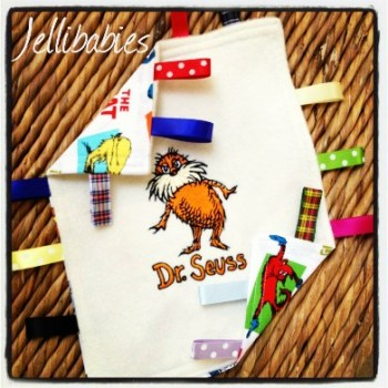Dr Seuss The Lorax Taggy Taggie blanket