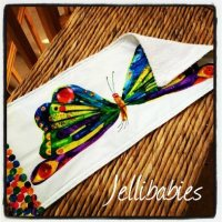 The very hungry caterpillar baby burp cloth Butterfly