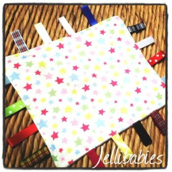 Cath Kidston stars  fabric Taggy Blankets