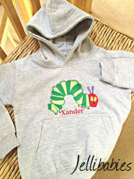 The very hungry caterpillar personalised hoodie