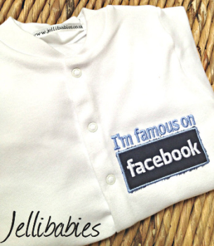 Im famous on facebook babygrow sleepsuit