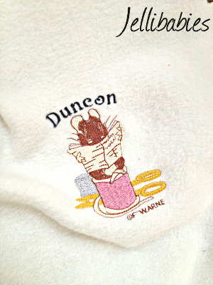 Personalised Tailor of gloucester  Beatrix Potter  fleece baby cot  blanket