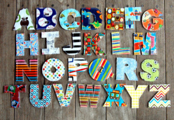 Fabric  alphabet learning game toy