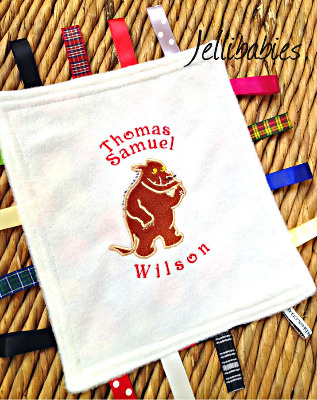 The gruffalo Taggy Taggie blanket