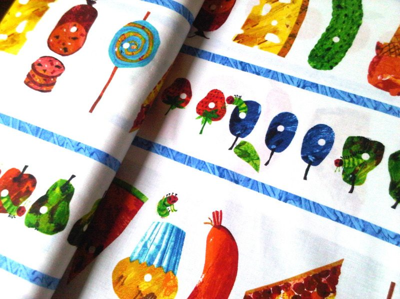 the very hungry caterpillar border fabric