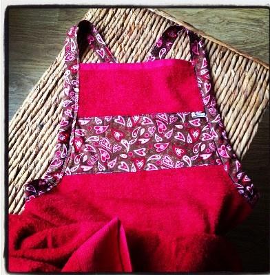 Baby bathing apron  new baby towel gift set