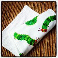 The very hungry caterpillar baby burp cloth sc cat