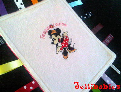 Minnie mouse  baby Taggy Taggie blanket