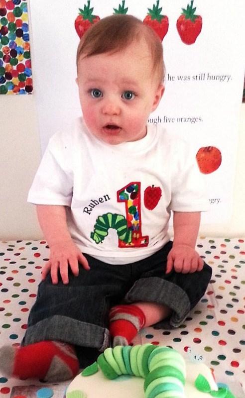 The very hungry caterpillar personalised children's birthday T shirt