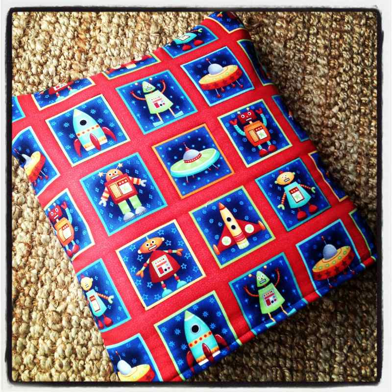rockets space ships and aliens baby children quillow cushion blanket 2