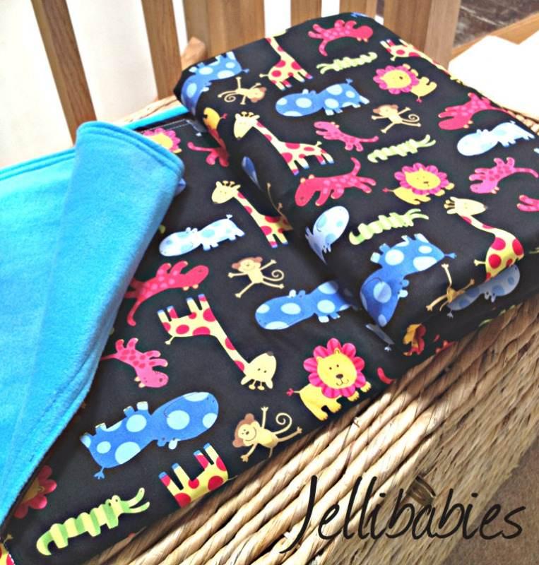 safari jungle animals cot bed blanket playmat
