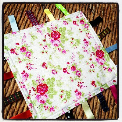 Vintage floral  Taggy Blankets