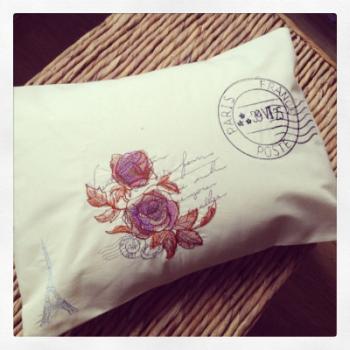 Vintage french parisian cushion