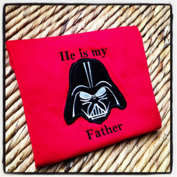 "Star wars ""He Is My Father"" children's T shirt"