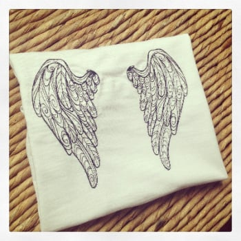 Adult angel wing t shirt