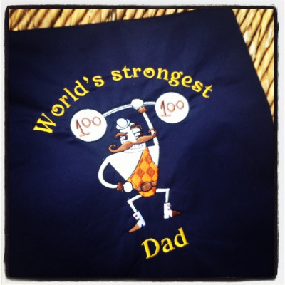 Fathers day  personalised  adult apron ANY design and text
