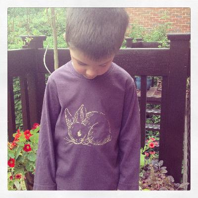 Bunny rabbit embroidered children's T shirt