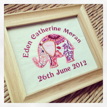 Personalised new baby arrival  status  art