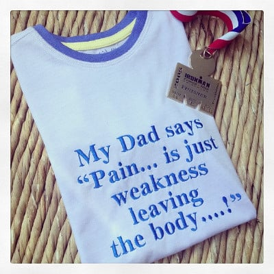 Triathlete Ironman inspired  children's T shirt