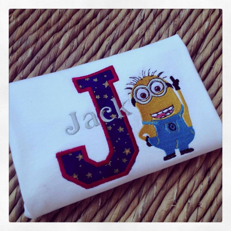 personalised despicable me minion birthday t shirt