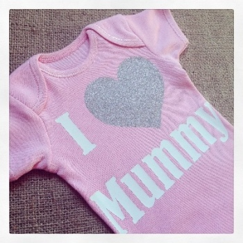 i LOVE mummy baby onesie vest