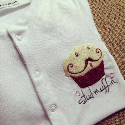 Stud muffin babygrow sleepsuit