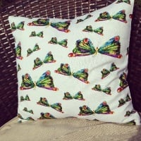 "The very hungry caterpillar butterfly  cushion cover 16"" x16"""