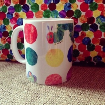 The very hungry caterpillar inspired mug