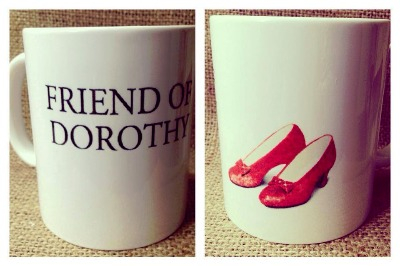 Friends of dorothy ruby slippers mug