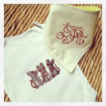 Three blind mice new baby gift set