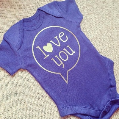 I love you   baby onesie vest
