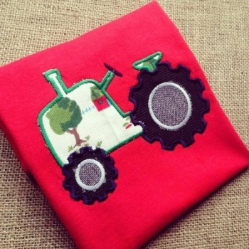 Children's bright tractor t shirt