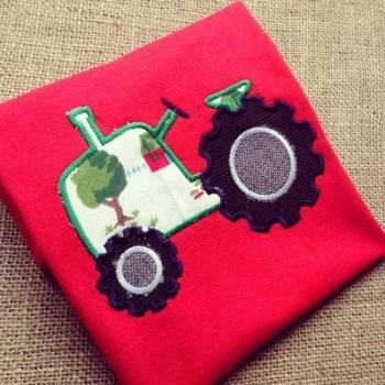 Children's bright tractor t shirt