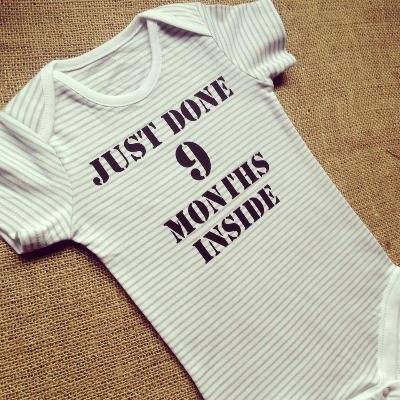 Just done 9 months inside  baby onesie vest