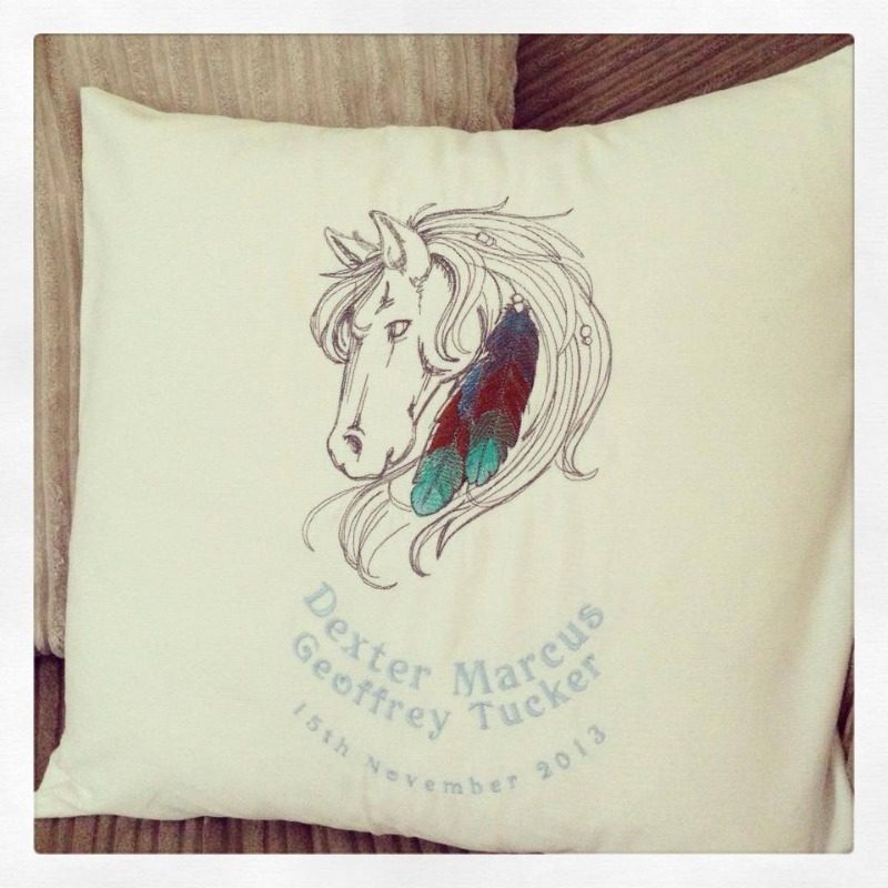 horse head cushion