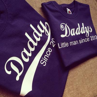 Daddy and little man since ... fathers day T shirt