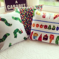 """The very hungry caterpillar   floor cushion COVER 26"""""""