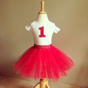 Birthday  baby tutu and onesie set from birth -3 years