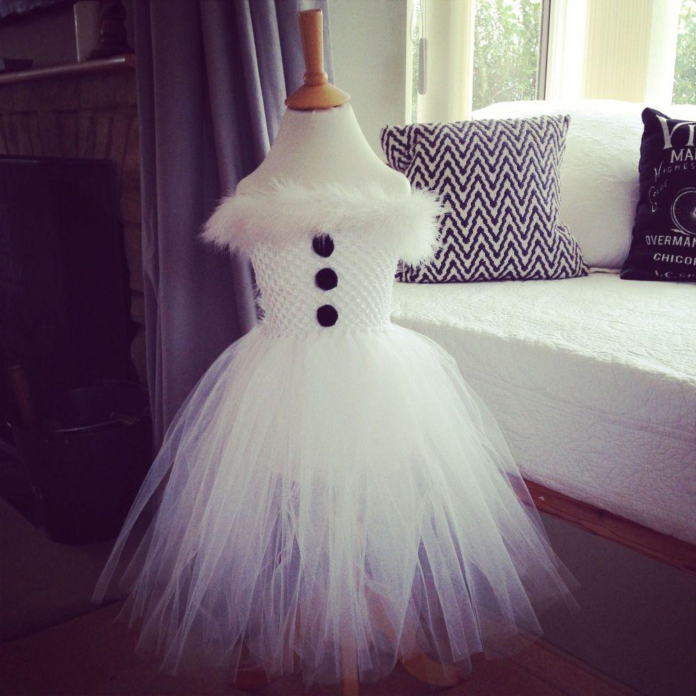 Snowman christmas   baby tutu set from birth upwards