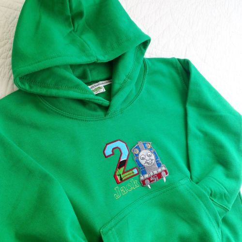 Thomas the tank engine children's personalised hoodie