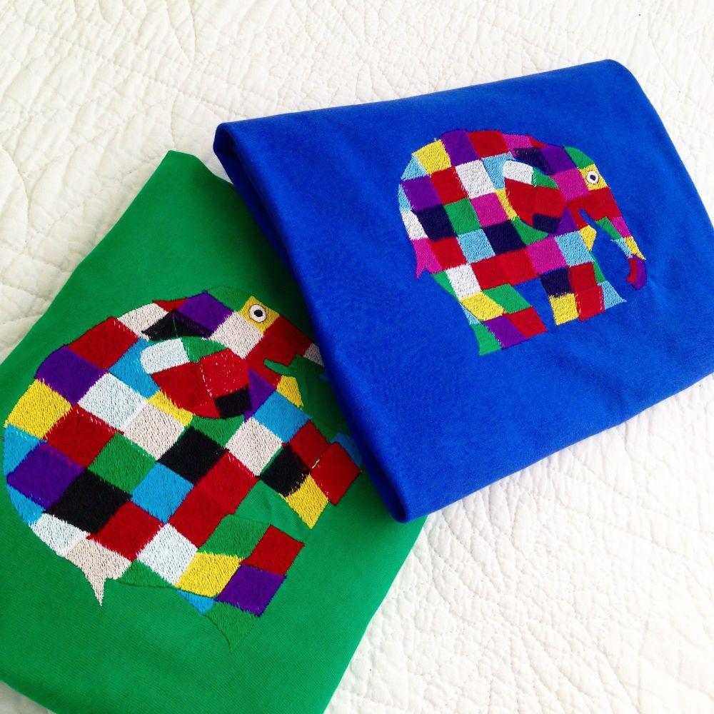 Elmer the patchwork elephant   T shirt