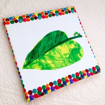The very hungry caterpillar children's canvas picture 3