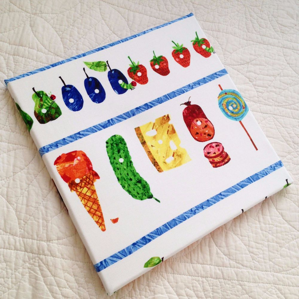 The very hungry caterpillar children's canvas picture