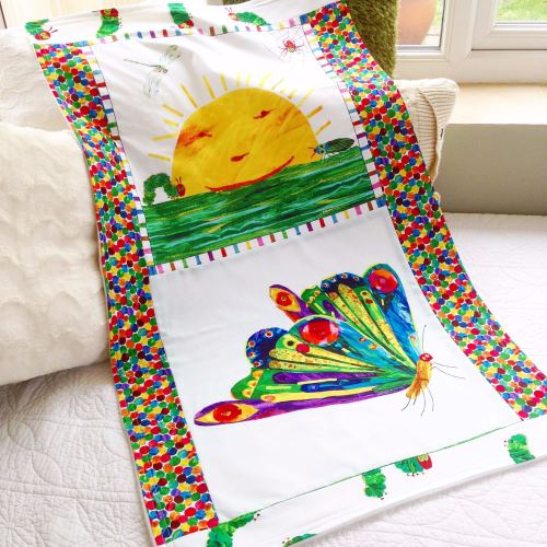The very hungry caterpillar  baby cot blanket