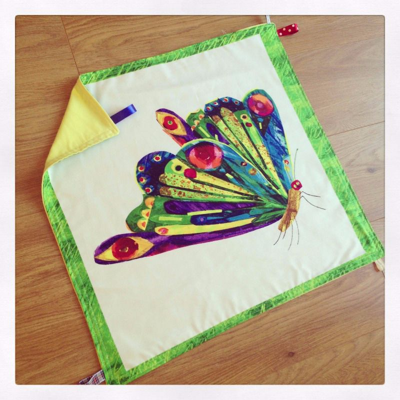 the very hungry caterpillar large baby taggy blanket