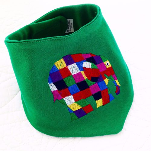Elmer the Elephant Bandana dribble bibs