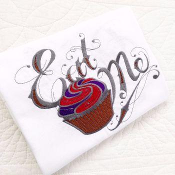 Alice in wonderland embroidered  children's T shirt